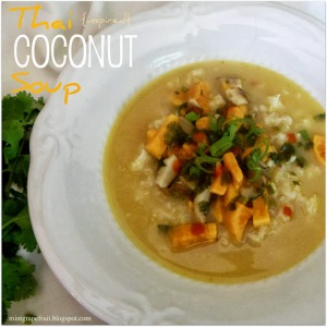 Thai {inspired} Coconut Soup