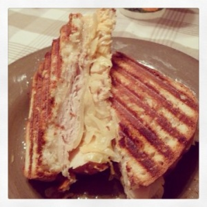 Turkey Ruben with Homemade Sauerkraut via MintGrapefruit