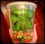 Salad ToGo - Baby Kale via MintGrapefruit.com #saladswap #momsmeet