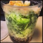 Salad ToGo - Shrimp & Quinoa via MintGrapefruit.com #saladswap #momsmeet