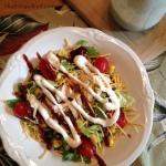 BBQ Chicken Salad via MintGrapefruit.com #saladswap #momsmeet