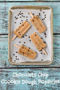 Chocolate Chip Cookie Dough Popsicles | Go Dairy Free